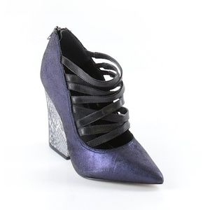 ASOS Chunky Metallic Heels Strappy